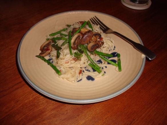 mushroomasparaguspasta